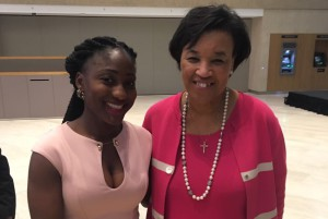 Kumba with Commonwealth Secretary General Patricia Scotland